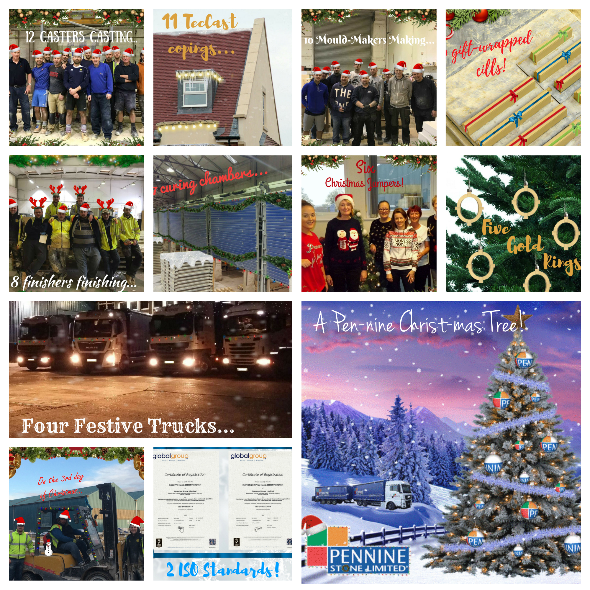 Pennine Stone's 12 Days of Christmas Countdown